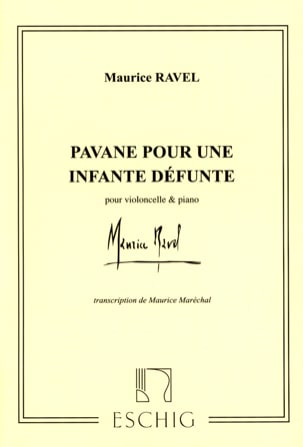 Maurice Ravel - Pavane for a dead Infante - Cello - Sheet Music - di-arezzo.co.uk