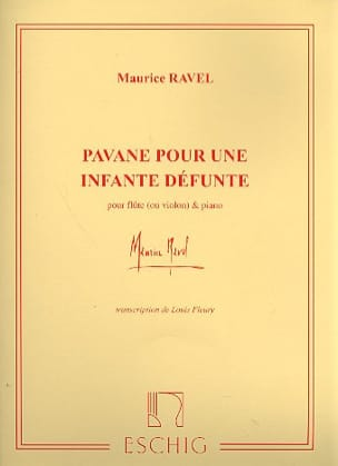 Maurice Ravel - Pavane for a dead Infanta - Flute or piano violin - Sheet Music - di-arezzo.co.uk