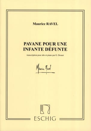 Maurice Ravel - Pavane for a dead infant - Alto - Sheet Music - di-arezzo.com