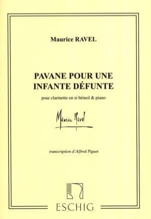 Maurice Ravel - Pavane for a dead infant - Clarinet - Partition - di-arezzo.co.uk