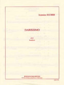 Jeanine Richer - Darissimo - Partition - di-arezzo.fr