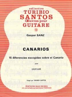 Canarios - Gaspar Sanz - Partition - Guitare - laflutedepan.com