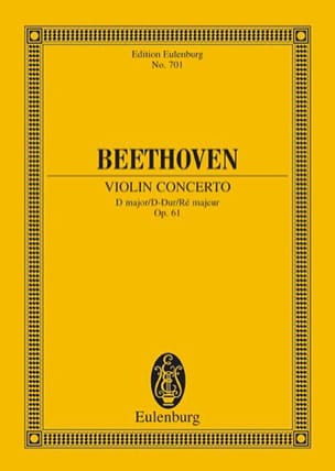 BEETHOVEN - Violin-Konzert D-Dur, op. 61 D-Dur - Sheet Music - di-arezzo.co.uk