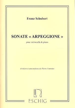 SCHUBERT - Sonata Arpeggione, the minor D. 821 - Sheet Music - di-arezzo.co.uk