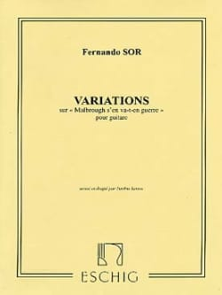 Fernando Sor - Introduction and Variations on Malbrough Op. 28 - Sheet Music - di-arezzo.co.uk