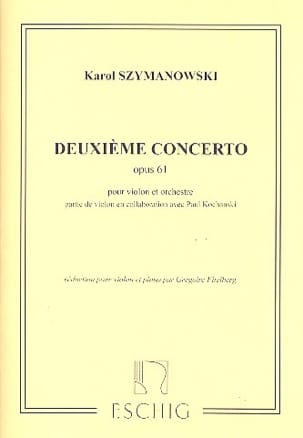 Karol Szymanowski - Violin Concerto No. 2 op. 61 - Partition - di-arezzo.co.uk