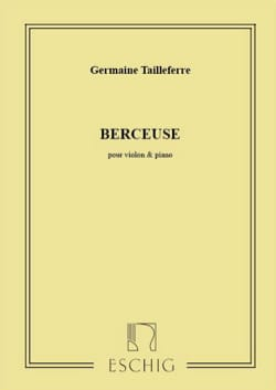Berceuse Germaine Tailleferre Partition Violon - laflutedepan