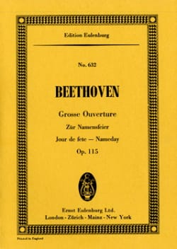 Ludwig van Beethoven - Zur Namensfeier, Ouverture - Partition - di-arezzo.fr