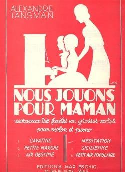 Alexandre Tansman - Nous jouons pour maman - n° 4 : Méditation - Partition - di-arezzo.fr