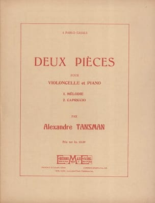 Alexandre Tansman - 2 Pièces - Partition - di-arezzo.fr