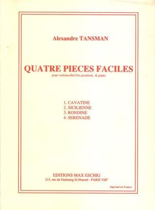4 Pièces faciles – Cello - Alexandre Tansman - laflutedepan.com