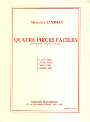 Alexandre Tansman - 4 habitaciones sencillas - Cello - Partitura - di-arezzo.es