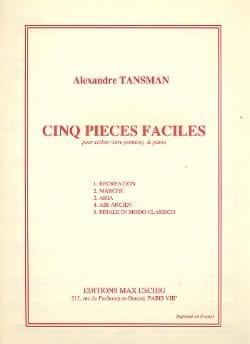 Alexandre Tansman - 5 piezas fáciles - violín - Partitura - di-arezzo.es