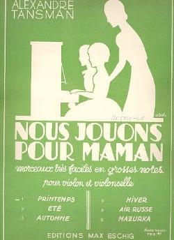 Nous jouons pour maman - n° 1 : Printemps - laflutedepan.com