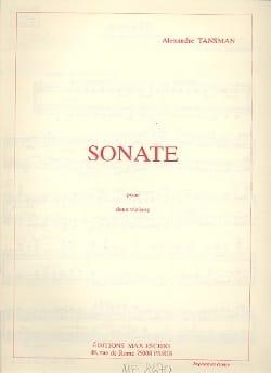 Sonate pour 2 violons - Alexandre Tansman - laflutedepan.com