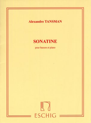 Alexandre Tansman - Sonatine for bassoon and piano - Sheet Music - di-arezzo.co.uk