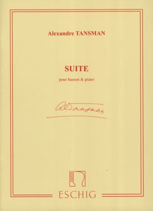 Alexandre Tansman - Suite - Bassoon and piano - Sheet Music - di-arezzo.com