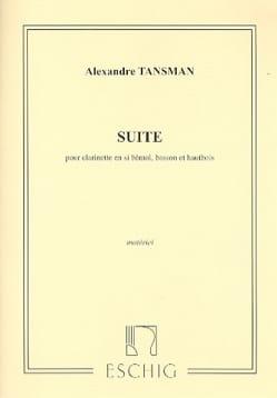 Suite pour trio d'anches - Parties Alexandre Tansman laflutedepan