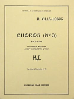 Choros n° 3 - Conducteur - Heitor Villa-Lobos - laflutedepan.com