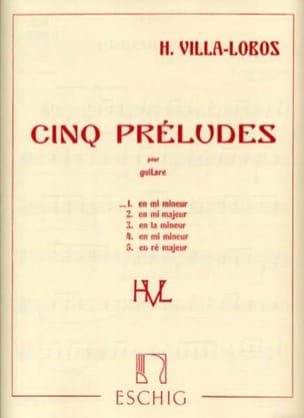Heitor Villa-Lobos - Prelude n ° 1 in E minor - Sheet Music - di-arezzo.co.uk