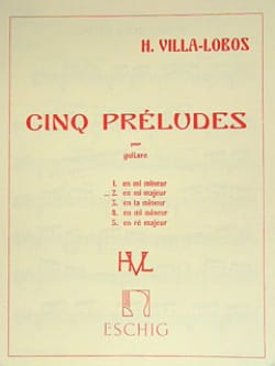 Heitor Villa-Lobos - Prelude # 2 in E major - Sheet Music - di-arezzo.co.uk