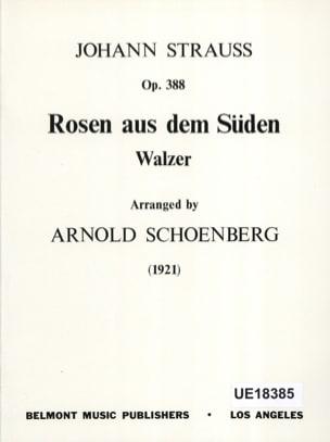 Strauss Johann / Schoenberg Arnold - Rosen aus dem Süden op. 388 - Score - Partition - di-arezzo.fr