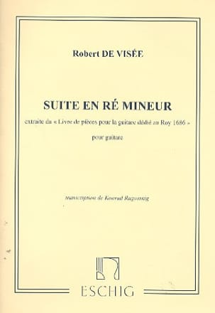Robert de Visée - Suite in D minor for guitar - Sheet Music - di-arezzo.com
