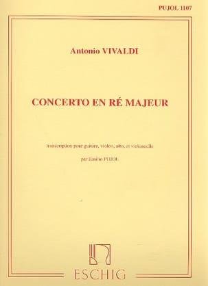 Antonio Vivaldi - Concerto en Ré majeur –Guitare et Trio à Cordes - Partition - di-arezzo.fr