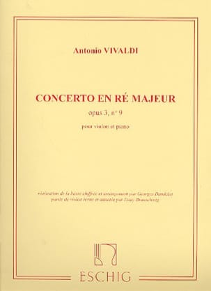 VIVALDI - Concerto D major op. 3 n ° 9 - Sheet Music - di-arezzo.co.uk