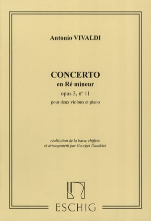 VIVALDI - Concerto D minor op. 3 n ° 11 - 2 Violins - Sheet Music - di-arezzo.co.uk