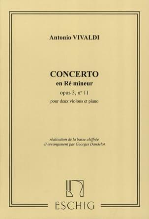 VIVALDI - Concerto D minor op. 3 n ° 11 - 2 Violins - Sheet Music - di-arezzo.com