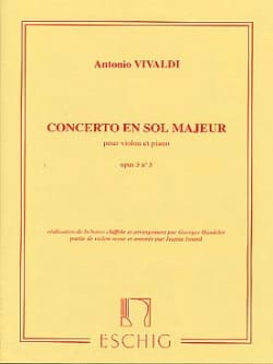 VIVALDI - Concerto in Sol Maj. - op. 3 n ° 3 - Violin / Piano - Sheet Music - di-arezzo.co.uk