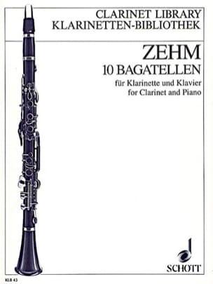 Friedrich Zehm - 10 Bagatellen –Klarinette Klavier - Partition - di-arezzo.fr