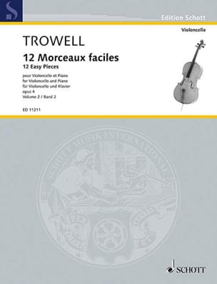 Arnold Trowell - 12 Easy Pieces Opus 4 Volume 2 - Sheet Music - di-arezzo.co.uk