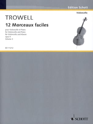 Arnold Trowell - 12 Easy pieces, op. 4 Volume 3 - Sheet Music - di-arezzo.com