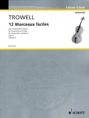 Arnold Trowell - 12 Easy pieces, op. 4 Volume 4 - Sheet Music - di-arezzo.co.uk