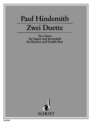 2 Duette - Basson et Contrebasse - Paul Hindemith - laflutedepan.com