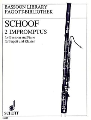 Manfred Schoof - 2 Impromptus - Fagott Klavier - Sheet Music - di-arezzo.com