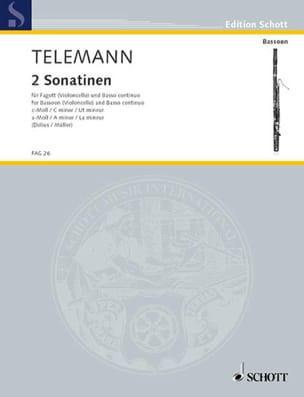 Georg Philipp Telemann - 2 Sonatinen –Fagott und Bc - Partition - di-arezzo.fr