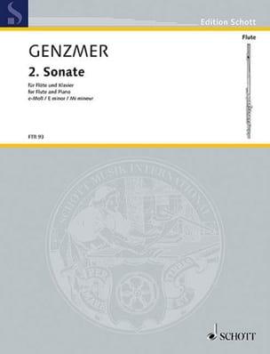 Harald Genzmer - Sonate Nr. 2 (in e) - Flöte Klavier - Partition - di-arezzo.fr
