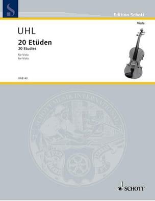 Alfred Uhl - 20 Etüden - Viola - Partition - di-arezzo.fr