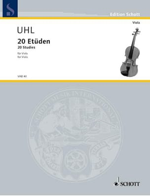 Alfred Uhl - 20 Etüden - Viola - Partitura - di-arezzo.es