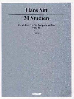 20 Studien op. 69 - Violine - Hans Sitt - Partition - laflutedepan.com