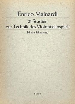 Enrico Mainardi - 21 Studien - Sheet Music - di-arezzo.co.uk