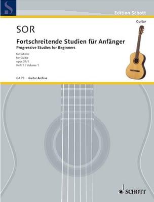 Fernando Sor - Forschreitende Studien für Anfänger op. 31 - Volume 1 - Partition - di-arezzo.fr