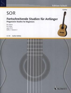 Fernando Sor - Forschreitende Studien für Anfänger op. 31 - Volumen 2 - Partitura - di-arezzo.es