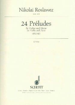 24 Préludes Nikolai Roslawez Partition Violon - laflutedepan