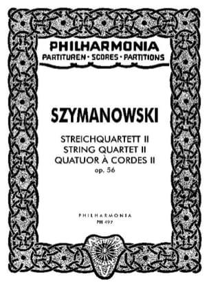 Karol Szymanowski - Streichquartett Nr. 2 op. 56 – Partitur - Partition - di-arezzo.fr