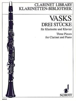 3 Stücke - Klarinette Klavier - Peteris Vasks - laflutedepan.com