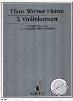 Hans Werner Henze - Violinkonzert Nr. 3 - Partition - di-arezzo.fr